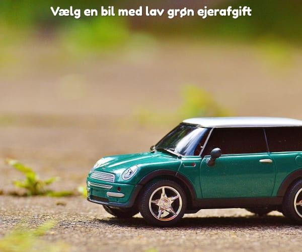 Vælg en bil med lav grøn ejerafgift