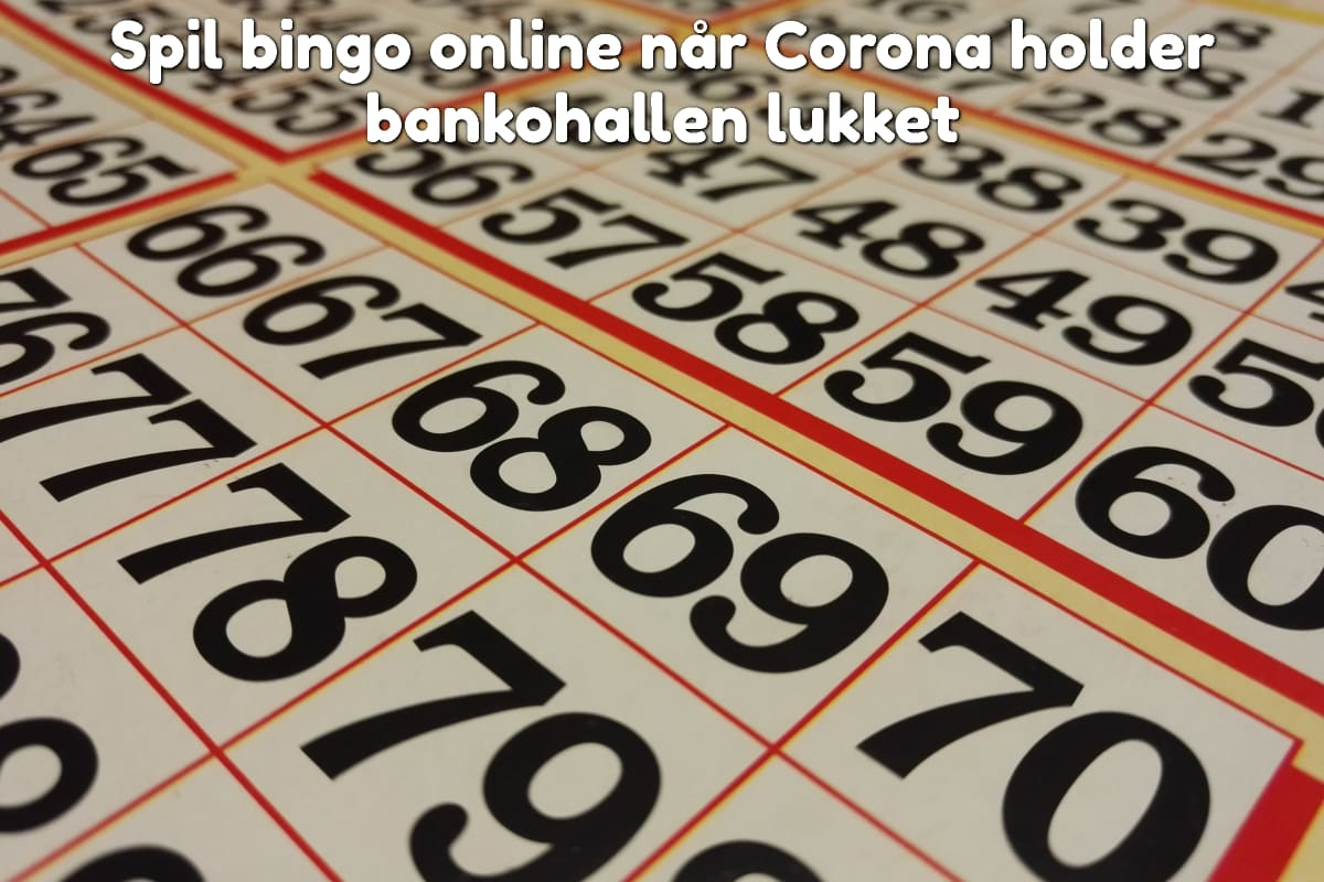 Spil bingo online når Corona holder bankohallen lukket